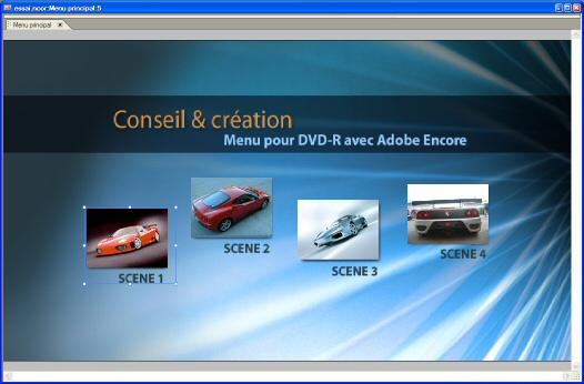 Création de menu avec Adobe Encore DVD